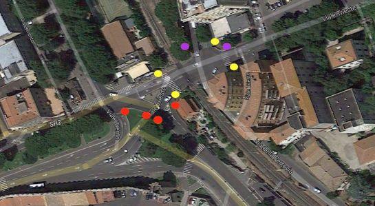 posizione dei semafori inutili