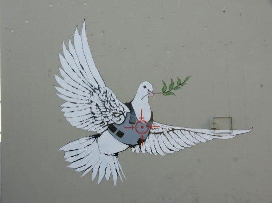 street art di Bansky (identità sconosciuta)